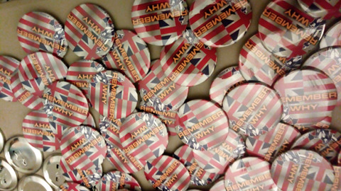 Original batch of Remember Why buttons